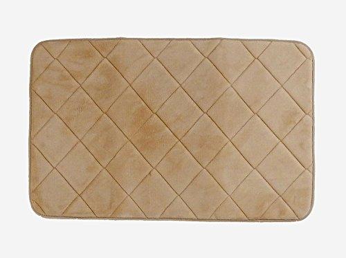 tappeto Memory ecrù 50x80 tappeto bagno, create la vostra area di benessere quotidiano. Tappeto scendiletto, tappeto tinta unita, tappeto antiscivolo. In offerta !