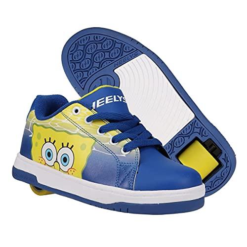HEELYS Split Spongebob (Little Kid Big Kid Adult) Blue Yellow White 5 Big Kid, 5 Men s, 6 Women s M