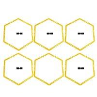 6PCS六角形アジャイルサークル、トレーニングサークルを認識しやすい、スポーツサッカー用品用PP素材