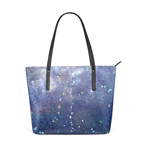 XGBags Custom Borsa a tracolla in pelle PU da donna Space Stars Womens Purse PU Leather Shoulder Tote Bag