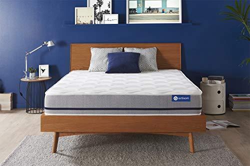 Materasso Actiflex soft 130x190cm, Spessore : 20 cm, Molle insacchettate, Moderatamente rigido, 3 zone di comfort