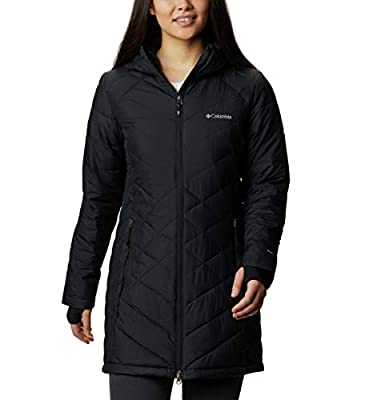 Columbia Women's Heavenly Long Hooded Jacket, Black, 3X Plus