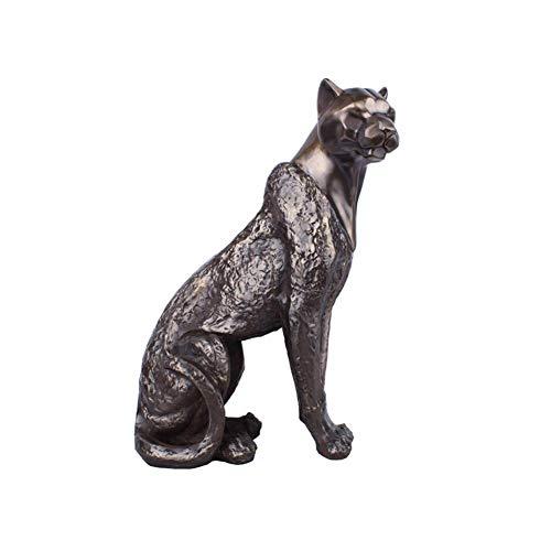 Jaguar Statue, Leopard Tierskulptur Retro Crafts Nostalgic Style Home Decoration Collection Kunstgeschenke