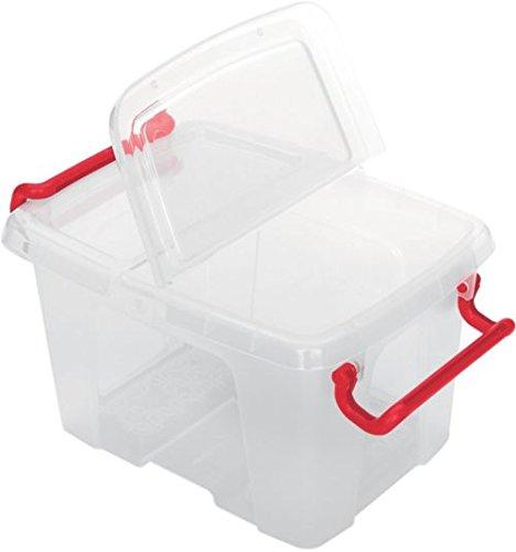 Office Depot Aufbewahrungsbox 6 l Glasklar Plastik 22,5 x 30 x 17 cm