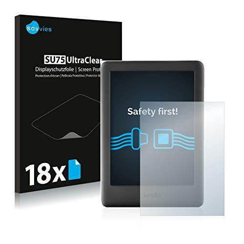 savvies 18-Pezzi Pellicola Protettiva Compatibile con Amazon Kindle 2019 (10a Generazione) Protezione Schermo Trasparente