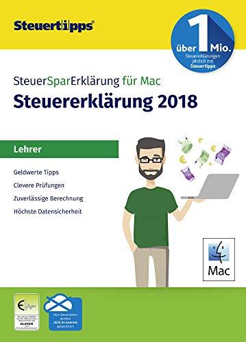 SteuerSparErklärung für Lehrer 2019, Schritt-für-Schritt Steuersoftware für die Steuererklärung 2018, Aktivierungscode per Mail für Mac: OS X (ab 10.11 El Capitan)