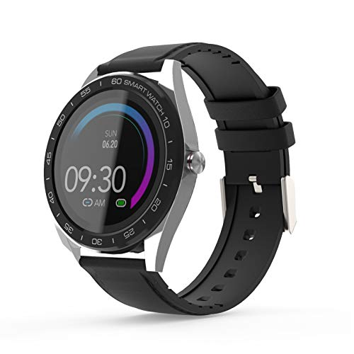 smartwatch Hombre, Reloj de Ejercicio a Prueba de Agua con Monitor de sueño, la presión Arterial para los Hombres Las Mujeres compatibles con Android iOS