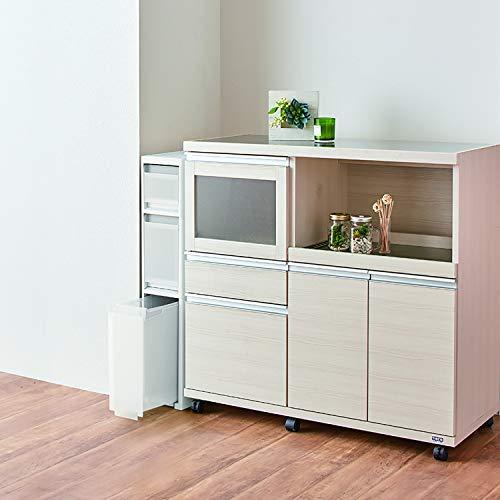 天馬キッチン収納ファビエスキピタスキピタストッカースリム5段ホワイト幅17×奥行45×高さ140cmS-131S
