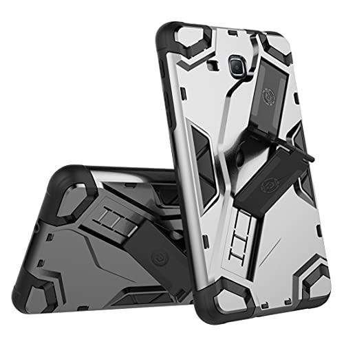 ZHIWEI Tablet PC Bag Custodia per Tablet per Samsung Galaxy Tab A 2016 (T288), TPU + PC Copertura Protettiva Multifunzione Multifunzione con Impugnatura Pieghevole Kackstand (Color : Black)