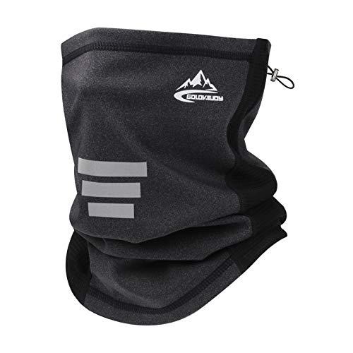 Bequemer Laden Winter Warm Multifunktionstuch Halstuch Schlauchtuch Mundschutz Sturmhaube Schlauchschal Gesichtsmaske Atmungsaktiv Stirnband für Damen und Herren mit Verstellbarem Seil