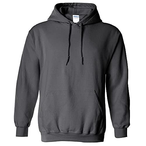 Gildan Men's Heavy Blend Hooded Sweatshirt, Charcoal, X-Large