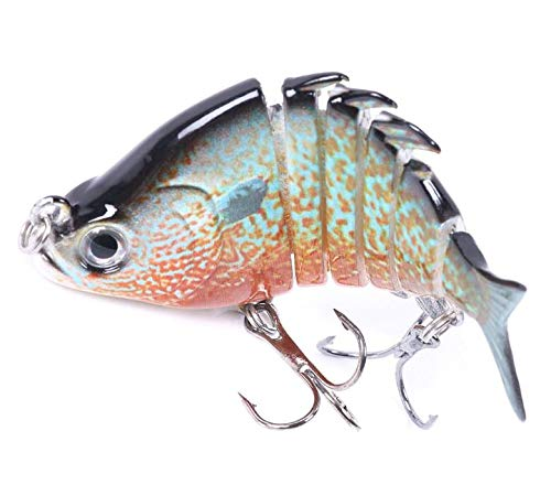 VOANZO 4 PCS Fishing Lures, Multi Jointed Artificial Hard Bait Swimbaits Lures Bionic Swimming Lures Lifelike Slow Sinking Lure Fishing Kit for Pike Bass Trout