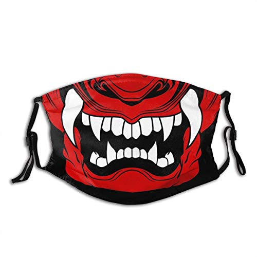 BOKUTT Samurai Oni Mask Unisex Mask Reusable Adjustable Outdoor Dustproof Face Decoration Face Cover