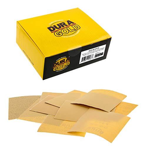 Dura-Gold - 1/4 Sheet Hook & Loop Sandpaperfor Palm Sanders - Box of 40