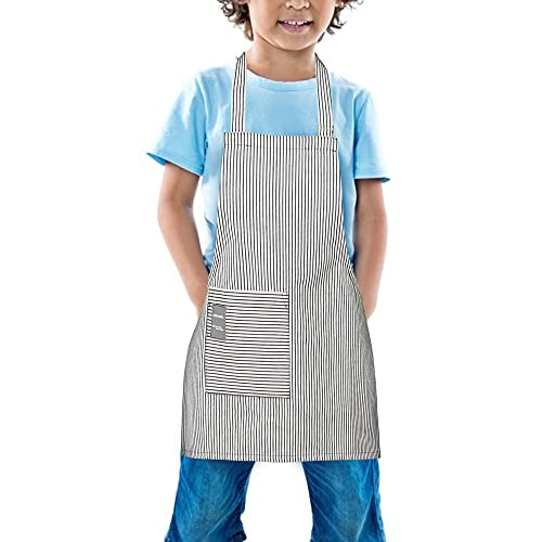 TeddSnow Daily Kids Apron, Toddler Cotton Adjustable Bib Chef Apron with Pocket, For Children Age 2 to 6 years, Boys Girls