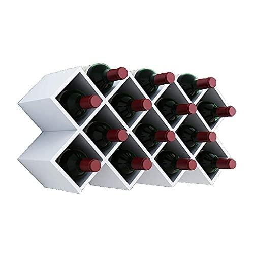 Muebles de bar para el hogar - Botella de inserción de celosía de vino Estante de vino para colgar en la pared Estante de vino Estante de pared Estante de decoración de gabinete de vino, adecuado para