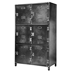 FUN AND FUNCTIONAL: You'll love the look of these industrial-chic lockers that are equally at home in an office breakroom, in a teen's room or in the corner of a greasy garage. BUILT TOUGH TO LAST: Store everything from books and sporting goods to fl...
