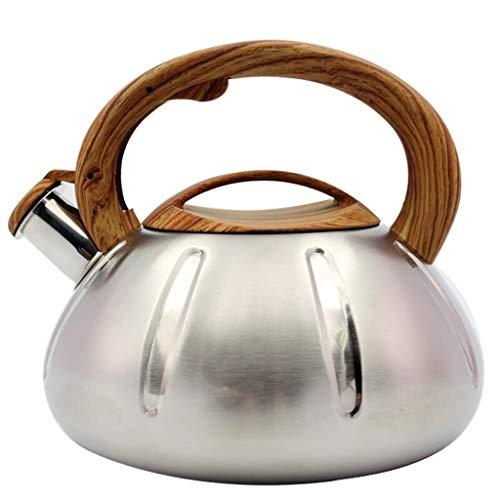 Bouilloire induction Réchaud à gaz en acier inoxydable 304 Poêle à gaz à gaz à 3 capacités avec bouteille d'eau siffleuse 3L WHLONG