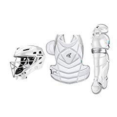 Dual density foam padding in helmet for comfort and protection Helmet meets NOCSAE standards for all levels of play Best in class chest silhouette to provide the best fit, mobility and protection Improved neck and collarbone guard Two-way easy tighte...