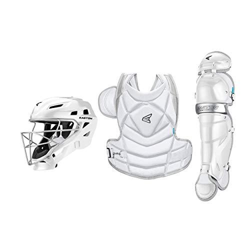 EASTON JEN SCHRO THE FUNDAMENTAL Catcher's Equipment Box Set Kit, Large, White