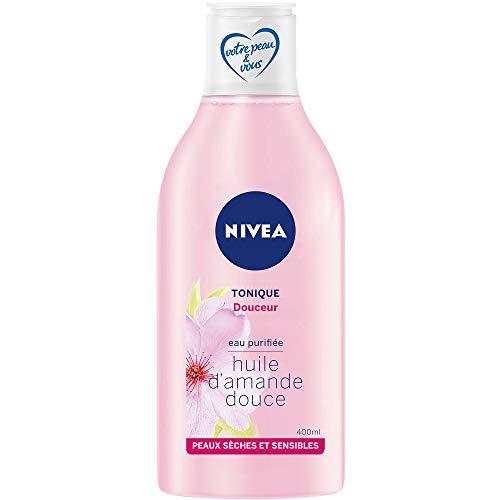 NIVEA Tonique Douceur, lotion tonique visage enrichie en huile d'Amande et eau purifiée, nettoyant pour peaux sèches & sensibles, soin visage femme