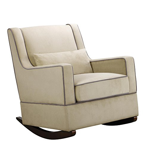 Baby Relax The Sydney Nursery Microfiber Rocker Chair and Free Lumbar Pillow, Beige