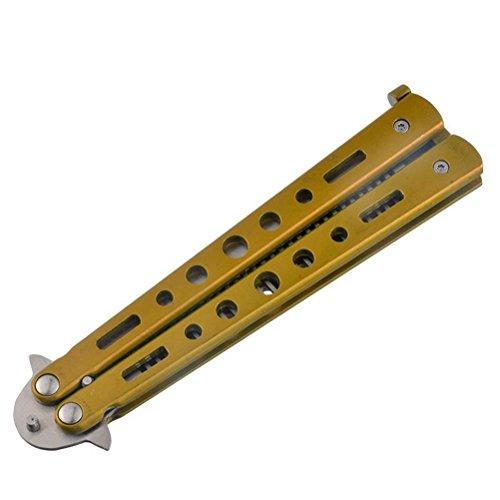ULTNICE Práctica cuchillo de acero inoxidable peine Blunt principiant