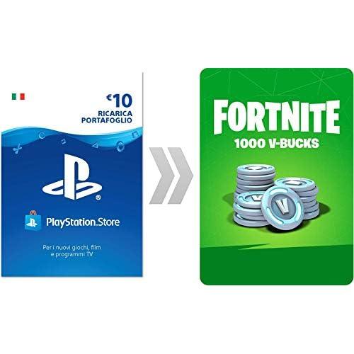 PSN Credito per Fortnite  1000 V-Bucks   Codice download per PS4 - Account italiano