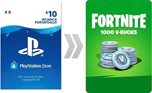 PSN Credito per Fortnite  1000 V-Bucks | Codice download per PS4 - Account italiano