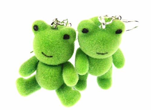 Frosch Ohrringe Frösche Miniblings Kröte Prinzessin Teddy Frösche Flock grün