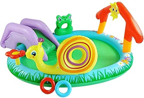 XZQ Schöne Cartoon Garten Pool Kinder Rutsche Aufblasbarer Pool Automatische Verdickung Material Sprinkler Teich