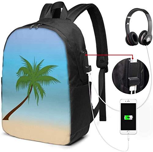 Llynice Laptop-Rucksack, 43,2 cm, Reiserucksack mit USB-Ladeanschluss, für Damen und Herren, geeignet für Laptop und Notebook, Hintergrund mit Hundepfotenabdruck, Ball und Knochen, Vektorbild