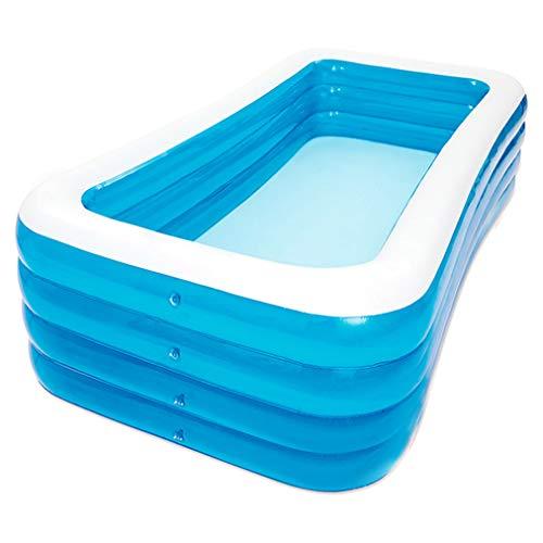 Piscina inflable, piscinas hinchables engrosadas de PVC, piscina de tamaño completo familiar, piscina de fiesta de agua de verano para adultos y niños