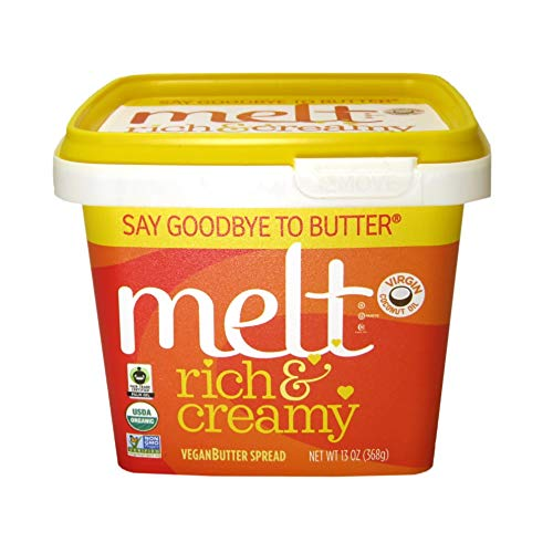 Melt Usda Organic Rich & Creamy Butter Made From Plants, 13 Ounce...