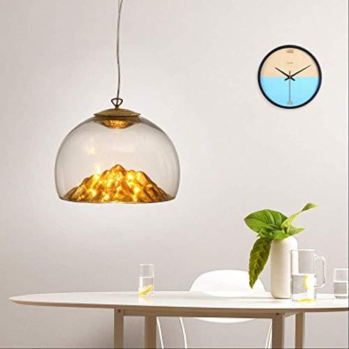 Nordic modernen minimalistischen Restaurant Kronleuchter, kreative Persönlichkeit Glas Kronleuchter Designer Stehtisch Wohnzimmer Schlafzimmer Lampen Gelb Golden