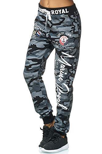 Violento Damen Jogginghose | Marine Royal 512 | Anthra/Camouflage | XL