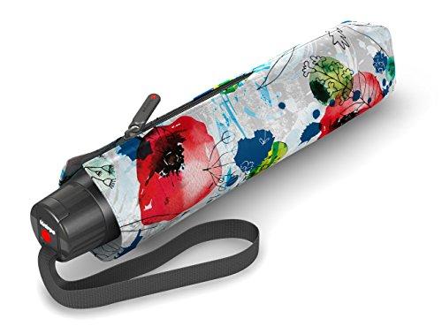 Knirps T.050 Taschenschirm Manual THALASSA White - inkl. Futteral im Schirmdesign - Hohe Stabilität durch CarboFlex® - Easy Handling - 100% Polyester - Windkanal getestet - kompakt&komfortabel