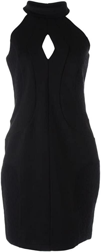French Connection Women's Scubalicious Halter Dress with Cutout Detail