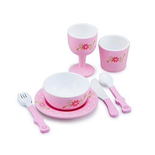 New Classic Toys - 11066 - Jeu D'imitation - Cuisine - Service Diner - Rose