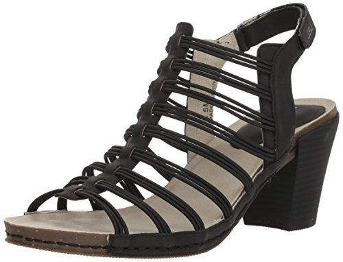JBU by Jambu Women's Luna Heeled Sandal, Black, 9.5 M US