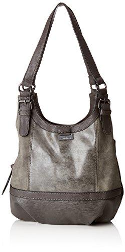 TOM TAILOR Shopper Damen, Juna, , Grau (Grau), 14x29x31 cm, TOM TAILOR Schultertasche, Handtaschen Damen