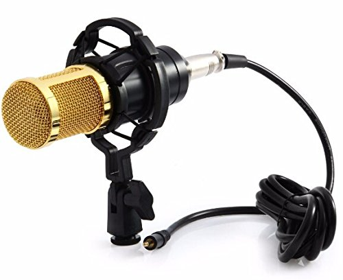 BM-900 Cardioid Condenser Microphone, Professional Studio Broadcasting Microphone Set wtih Shock Mount, Noise Canceling Microphone Sound for Studio Recording & Brocasting