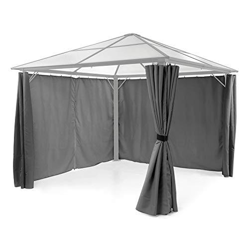 blumfeldt Pantheon Solid Sky Pavillon-Seitenwände - Zubehör-Set: 4 Seitenwände, Blick- und Windschutz, Material: 140 g/m² Polyester, wasserabweisend, grau