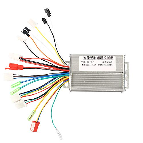Opaltool Brushless Controller, 36V/48V Aluminium Alloy E-Bike Brushless Motor Controller for Electric Bicycle Scooter (350W)