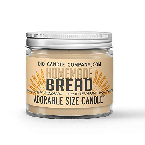 Homemade Bread Candle - Freshly Baked Crusty Loaf Scented - Made with 100% Vegan Soy Wax and Premium Fragrance - Available in 3 Adorable Sizes and Wax Tart