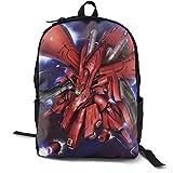 Gundam-Char Aznable SAZABI Anime Cartoon Cosplay Canvas Shoulder Bag Backpack Cute Lightweight Travel Daypacks School Backpack Laptop Backpack