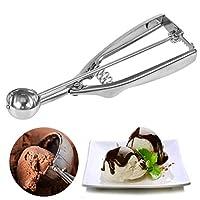 foccts - porzionatore per gelato in acciaio inox, con grilletto per frutta, ghiaccio, diametro: 25 mm