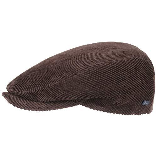 Lipodo Gorra Gatsby Cordial Algodón - Marrón - Talla L 58-59 cm - Gorra de Pana de Hombre con Forro Acolchado para Invierno - Gorra Deportiva