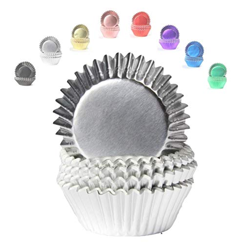 Miss Bakery's House® Mini-Muffinförmchen Folie - Ø 32 mm x 20 mm - Silber - 120 Stück