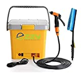 Ezzy ECW01 12V Electric High Pressure Car Washer, Nozzle Water Gun,16L Water Tank,Suitable for Car or Bike Wash, Watering Lawn and Garden.